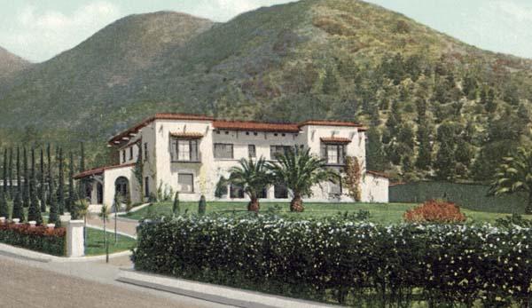 Wattles Mansion Then
